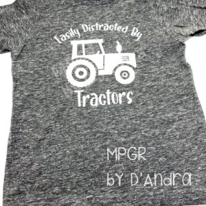 Toddler Tractor Tee by MyPixieGirlsRuffles