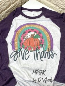 Give Thanks Tee by MyPixieGirlsRuffles